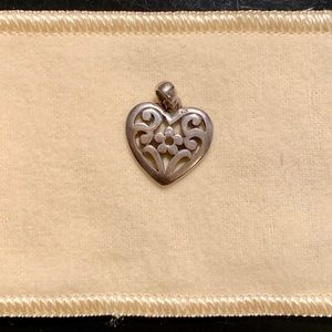 James Avery heart charm with floral detail